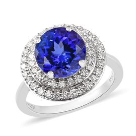 RHAPSODY 950 Platinum Tanzanite and Diamond Ring 4.65 Ct.