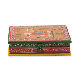 Royal Horse Vibrant Colour Hand Painted Storage Jewellery  Box