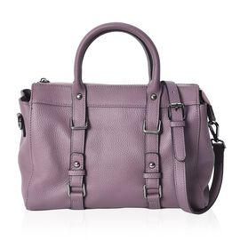 100% Genuine Leather Tote Bag (Size 29x13x21 Cm) - Purple
