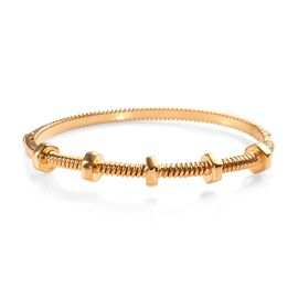 Bolt and Nut Theme Bangle in Gold Plated Silver 31.12 Grams 7.5 Inch