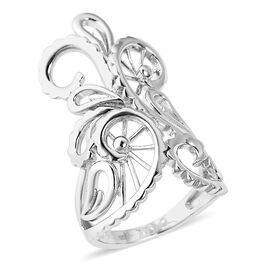LucyQ Lace Stellar Ring in Rhodium Plated Silver 7.03 Grams