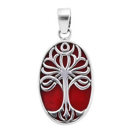 Sponge Coral Tree of Life Pendant in Sterling Silver