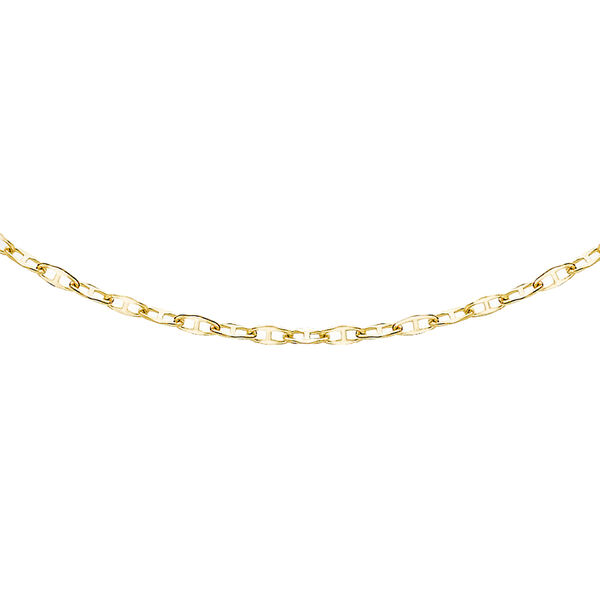 Hatton Garden Close Out Deal- 9K Yellow Gold Flat Rambo Necklace (Size 22)
