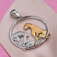 Platinum and Yellow Gold Overlay Sterling Silver Pendant