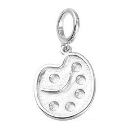 Charms De Memoire Platinum Overlay Sterling Silver Artist Palette Charm