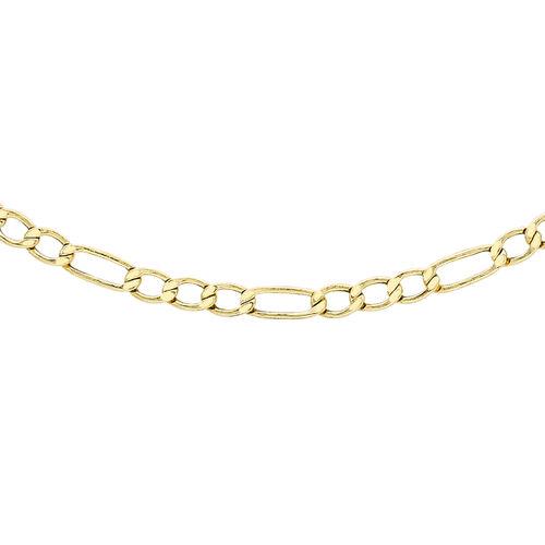 9K Yellow Gold Figaro Chain (Size 20)