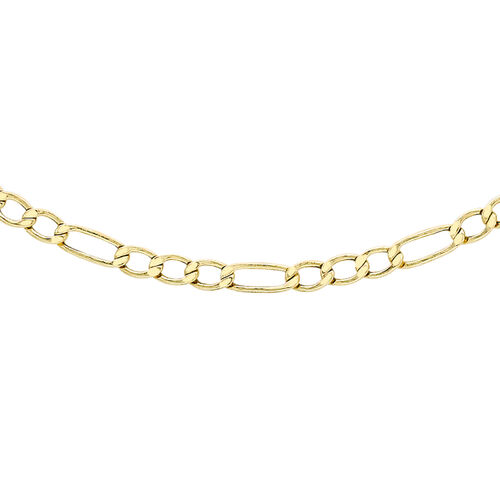 9K Yellow Gold Hollow Figaro Chain (Size 20)