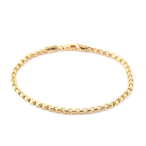 Box Belcher Chain Bracelet in 9K Yellow Gold 4.70 Grams 7.5 Inch