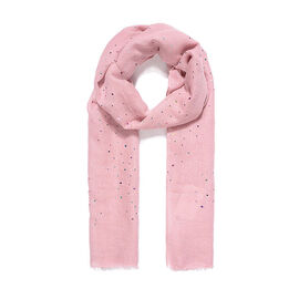Brand New Scarves - Pink Rainbow Sequin Scarf - 180x70cm - Pink