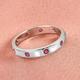 RHAPSODY 950 Platinum AAAA Burmese Ruby Band Ring