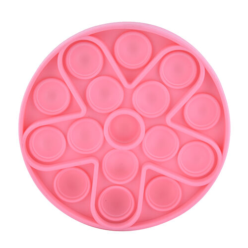 Push Bubble Stress Relieving Circular Fidget for Adults/Children in Pink (Dia: 11.5cm)