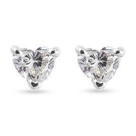 RHAPSODY 950 Platinum SGL Certified Diamond (VS/ E-F) Earrings (with Screw Back) 0.250 Ct.