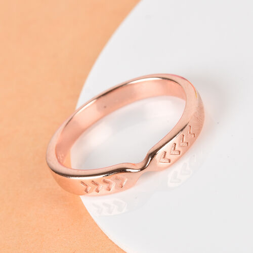 Rose Gold Overlay Sterling Silver Arrow Band Ring