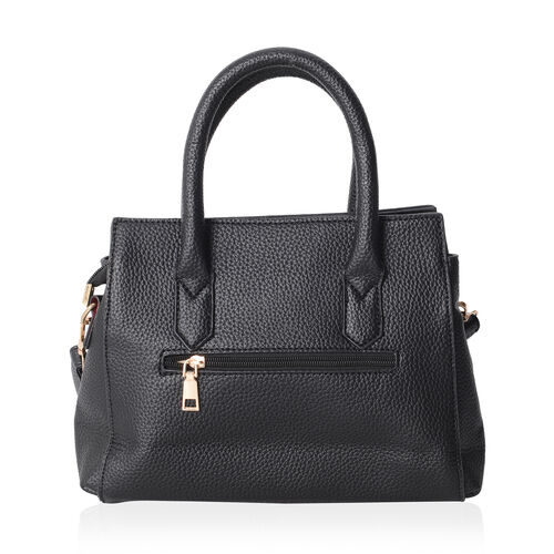 Richmond Embossed Pattern Tote Bag with External Zipper Pocket and Removable Shoulder Strap (Size 30x22x11 Cm)