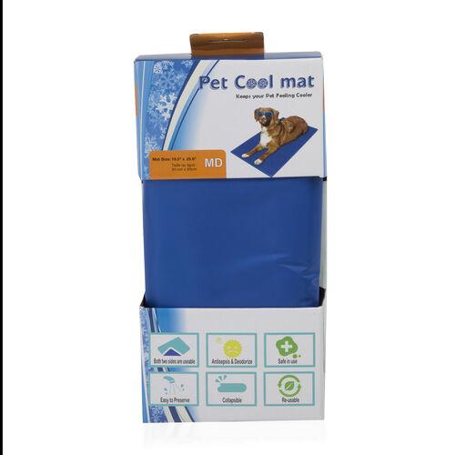 Pet Cooling Mat (Size 50x65 Cm) - Blue