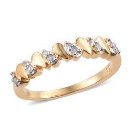 Diamond (Rnd) Ring in 14K Gold Overlay Sterling Silver 0.100 Ct.