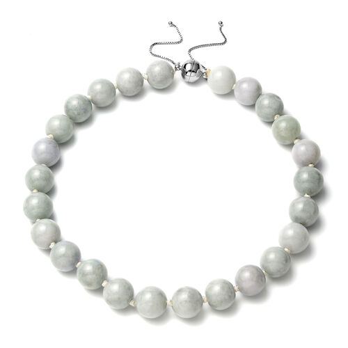 Extremely Rare- Natural Organic AAAA Jade  Necklace (Size 18-22) with Magnetic Clasp in Sterling Sil