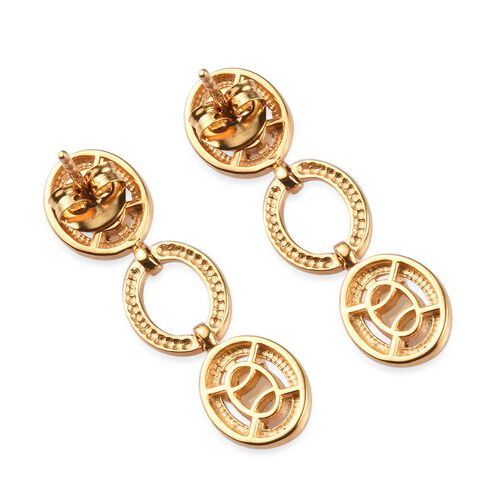Ethiopian Welo Opal Dangle Earrings in 14K Gold Overlay Sterling Silver 1.25 Ct
