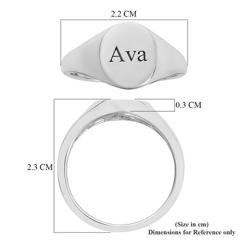 Personalise Engravable Signet Ring