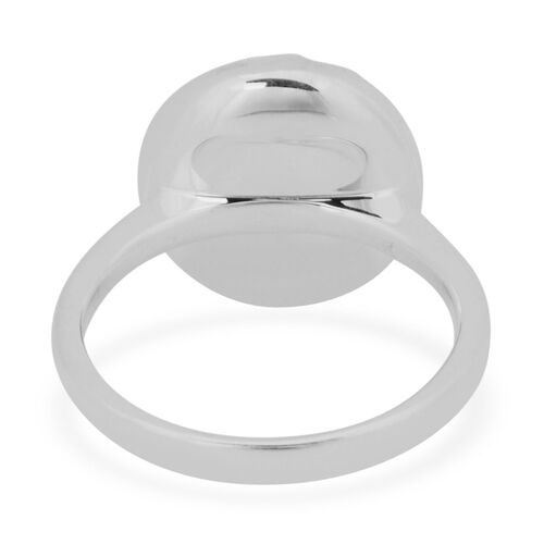 RACHEL GALLEY Rhodium Plated Sterling Silver Pebble Ring