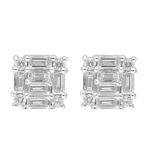 RHAPSODY 950 Platinum Natural Diamond (VS/E-F) Stud Earrings 0.25 Ct.