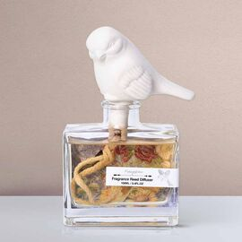 Decorative Scented Reed Bird Diffuser (100 ML) - Frangipani Fragrance