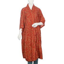 Designer Inspired - Paisley Pattern Shrug Free Size - Red Colour