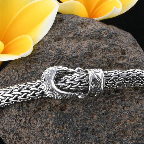 Royal Bali Collection Sterling Silver Tulang Naga Bracelet (Size 7.5), Silver wt 45.28 Gms.