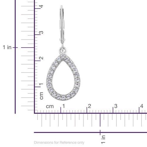 Natural Cambodian Zircon 0.75 Ct Silver Lever Back Earrings in Platinum Overlay