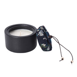 Aromatic Soy Wax  Candle in Black Ceramic Container with Gift Box (Burning Time: 20 hours) - Rose Fr