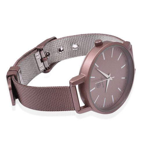 STRADA Japanese Movement Water Resistant Watch with Bronze Strap