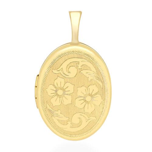 9K Yellow Gold Floral Locket