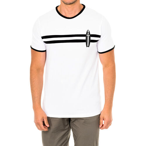 Karl Lagerfeld - Mens Surf T-Shirt Short Sleeve (Size M) - White