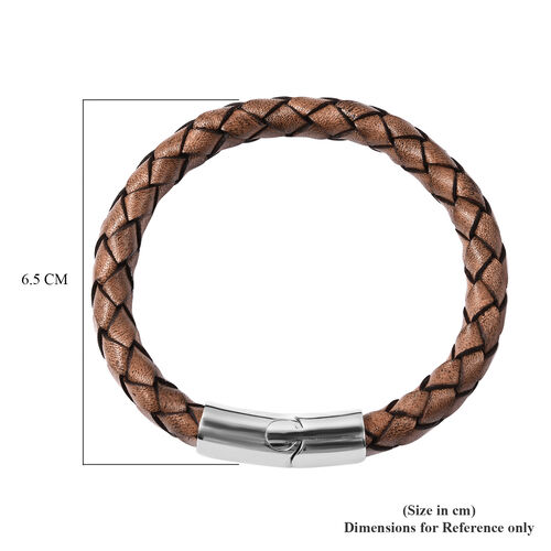 Personalise Men's Secret Message Leather Bracelet