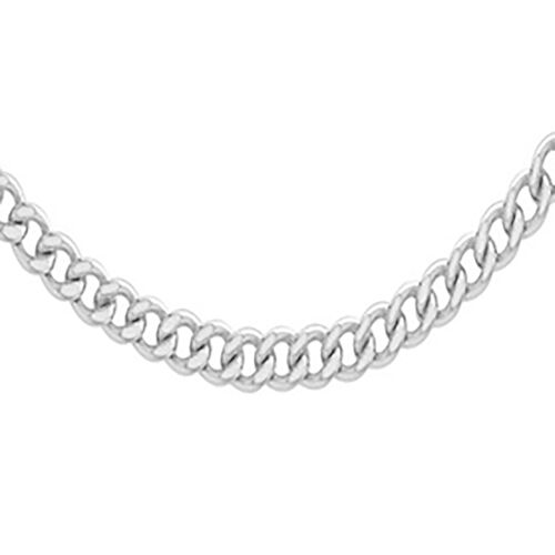 Curb Chain Necklace in Sterling Silver 16 Inch
