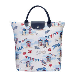 SIGNARE - Tapastry Beach Hut Foldable Large Tote Bag  (38 x 35.5 x 9 cms)