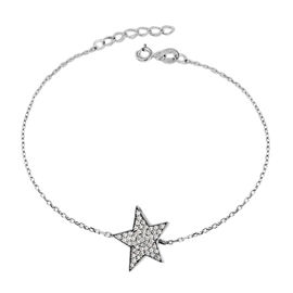 Sterling Silver Star Bracelet (Size 6.5 with 1 inch Extender)