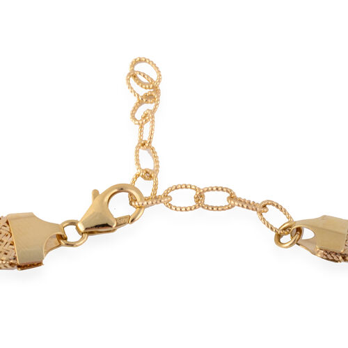 9K Yellow Gold Domed Graduated Omega Necklace (Size 18), Gold wt 12.80 Gms.
