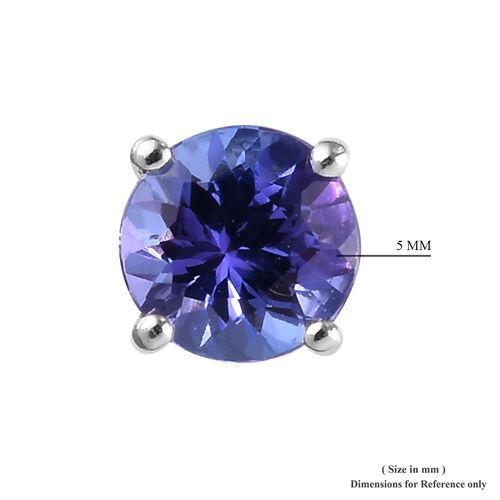 ILIANA 18K White Gold AAA Tanzanite Stud Earrings (with Screw Back) 1.00 Ct.