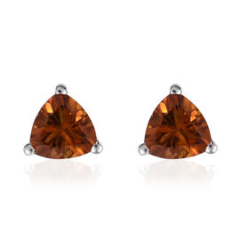Madeira Citrine (Trl) Stud Earrings (with Push Back) in Platinum Overlay Sterling Silver 1.250 Ct.