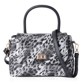 Leopard Pattern Classic Tote Bag with Removable and Adjustable Shoulder Strap (Size 28x20x9 Cm)