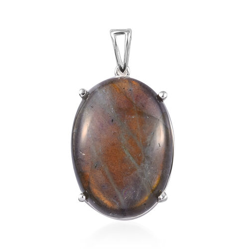 One Time Deal- Labradorite Pendant in Sterling Silver 28.00 Ct.