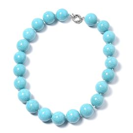 1030 Carat Blue Howlite Beaded Necklace 19.5 Inch
