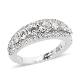 14K White Gold LEO Diamond -  GSI CERTIFIED Diamond Ring 1.500 Ct.