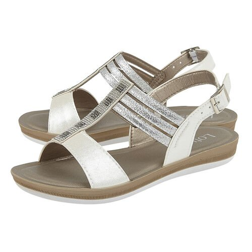Lotus White Rome Sling-Back Sandals (Size 3)