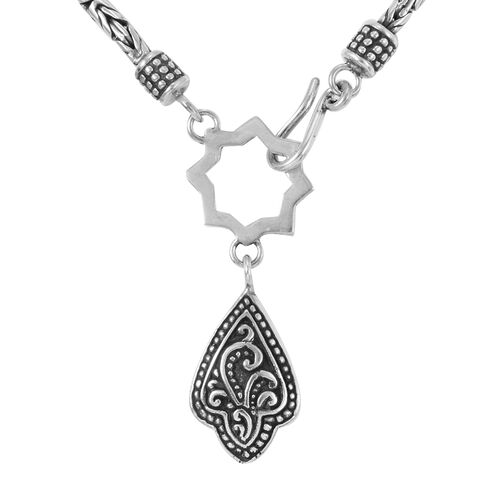 Royal Bali Collection- Sterling Silver Filigree Necklace (Size 18), Silver wt. 34.11 Gms.