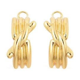 Knot Hoop Earrings in Gold Tone