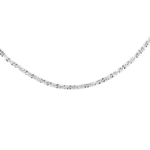 Italian Made 18 Inch Rock Chain in Sterling Silver 7.10 Grams