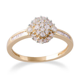 0.33 Ct Diamond Ring in 9K Yellow Gold SGL Certified I3 GH