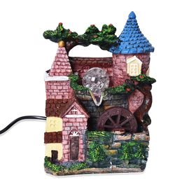 Home Decor - Fairy Tale House Design LED Light Water Fountain with BS Plug (Size 19x14x28 Cm) - Gree